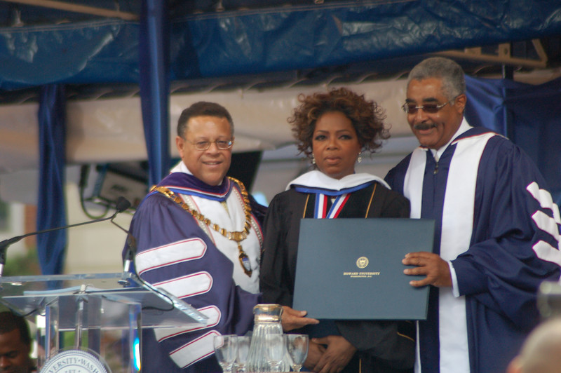 Oprah said she was really feeling Howard U and that she would be calling herself Doctor Oprah come Monday.<br /> <br /> Photo by Isidra Person-Lynn