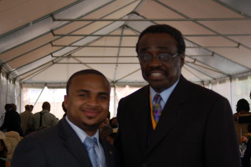 Jaaye with James Silcott, trustee, Howard U.<br /> <br /> <br /> Photo by Isidra Person-Lynn