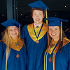 Kaley Lynch/staff-LHS '14 grads include Emily Hirauk, left, Bailey Dawson and Renee Copperthite.