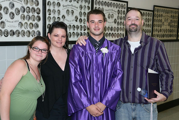 Stephen M. Wallace/contributor-The Breedlove family is proud of their Roy Hart '14 graduate, Cody Breedlove. From left are his sister Kayla, mom Jackie and dad Robert.