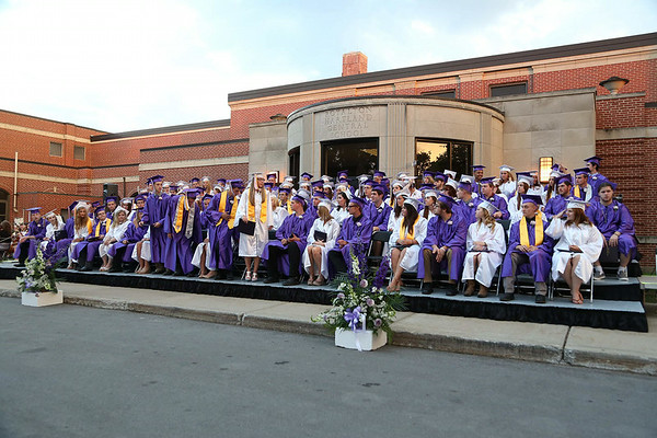 Stephen M. Wallace/contributor-Members of the Royalton Hartland class of 2014, with diplomas in hand, Saturday evening at the school.