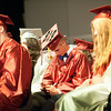 140627 JOED VIERA/STAFF PHOTOGRAPHER-Pendleton, NY-Starpoint graduates wait to walk across the stage at their graduation ceremony. June 27, 2014