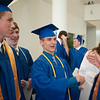 140628 JOED VIERA/STAFF PHOTOGRAPHER-Buffalo, NY-Newfane graduates joke around after thier graduation ceremony at UB's Center for the Arts. June 28, 2014