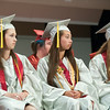 140627 JOED VIERA/STAFF PHOTOGRAPHER-Pendleton, NY-Starpoint graduates listen to the Valedictorian speech at her graduation. June 27, 2014