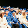 140628 JOED VIERA/STAFF PHOTOGRAPHER-Buffalo, NY-Newfane graduates laugh at a speech during thier graduation ceremony at UB's Center for the Arts. June 28, 2014