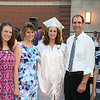 Stephen M. Wallace/contributor-At Royalton Hartland High School graduation Saturday night at the school, class of 2014 valedictorian Courtney Van Buren is shown with her family, from left, sister Chelsea, mom Lisa, dad Allan and brother Cameron.