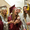 140627 JOED VIERA/STAFF PHOTOGRAPHER-Pendleton, NY-Starpoint graduates Madie Matyjas, Megan Held and Amber Marshall laugh at a selfie after walking across the stage. June 27, 2014