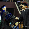 Pierre Jordan walks across the stage at the summer 2011 FSU Graduation ceremony on August 6th at the Civic Center.