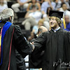 Ben Hancock walks across the stage at the summer 2011 FSU Graduation ceremony on August 6th at the Civic Center.