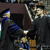 Cameron Auld walks across the stage at the summer 2011 FSU Graduation ceremony on August 6th at the Civic Center.