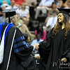 Heather Elwell walks across the stage at the summer 2011 FSU Graduation ceremony on August 6th at the Civic Center.