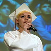 Debby High — For Montgomery Media<br /> Graduate Larissa Buck sings during the ceremony.