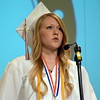 Debby High — For Montgomery Media<br /> Salutatorian Taylor Barnes gives her address.