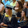 Debby High — For Montgomery Media<br /> Graduates listen to Ted Brunner's speech.
