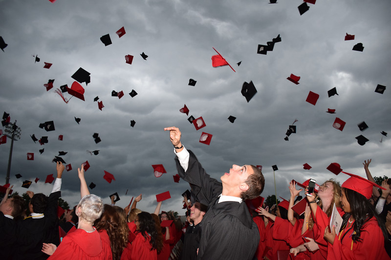 Hatboro-Horsham High School holds the graduation ceremony for the Class of 2015 in the high school stadium Monday, June 8, 2015. DEBBY HIGH - FOR MONTGOMERY MEDIA