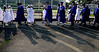 Seniors cast long shadows as they enter Spartan Stadium for the Springfield Township High School graduation ceremony June 10, 2015.<br /> Bob Raines--Montgomery Media