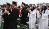 Bob Raines--Montgomery Media<br /> Graduating seniors turn to offer their parents around of applause at the William Tennent High School graduation ceremony to begin June 17, 2015.