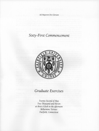 2011-05-22 Masters Commencement Program