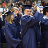 Special to the Record-Eagle/Tessa Lighty<br /> Students move their tassle during the Traverse City St. Francis High School Commencement Ceremony on Sunday, June 2, 2019.