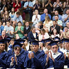 Special to the Record-Eagle/Tessa Lighty<br /> Students and the audience applaud during the Traverse City St. Francis High School Commencement Ceremony on Sunday, June 2, 2019.
