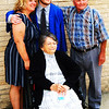 Debbie Blank | The Herald-Tribune<br /> Graduate Ian Bedel is surrounded by (from left) aunt Mary Laudick, Oldenburg, and grandparents Marjorie and Ferdie Bedel, Hamburg.