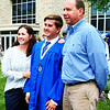 Debbie Blank | The Herald-Tribune<br /> It's a photo opp for new grad Will Harmeyer and parents Amy and Steve. He's heading to the University of Cincinnati to study finance.