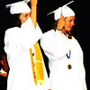 Debbie Blank | The Herald-Tribune<br /> Led by Student Council President Maddie Pierson and , senior class representative Audrey Weigel, the fresh graduates turned their tassels and tossed caps into the air, signaling the end of the momentous occasion.