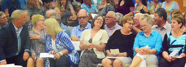 Will Fehlinger | The Herald-Tribune<br /> Members of the Class of 1967 caught up with classmates and shared laughs prior to the ceremony.