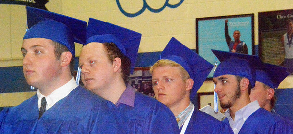 Will Fehlinger   The Herald-Tribune<br /> Students wait for their names to be called to receive their diplomas.