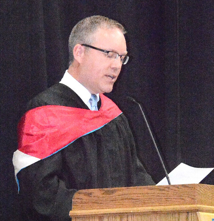 Will Fehlinger | The Herald-Tribune<br /> Superintendent Paul Ketchum addressed the crowd.