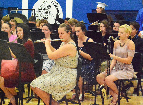 Will Fehlinger | The Herald-Tribune<br /> The BHS band entertained throughout the ceremony.