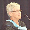 "Will Fehlinger | The Herald-Tribune<br /> Speaking on behalf of the BHS Class of 1967, Jenny Menser told the grads to ""Go out and make a difference filled with faith, hope, love, confidence and a positive attitude."""