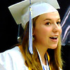 "Debbie Blank | The Herald-Tribune       <br /> Valedictorian Emily Weiler said, ""I ask you to live in the moment, to play music too loud and sing in the shower ... I ask you to laugh until your belly aches, and take pictures of all the little moments in your life because they are what you will treasure for a lifetime. I ask you to make a personal checklist of what you wish to accomplish and go out and achieve everything on it, making sure your personal happiness lies at the top."""