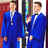 Debbie Blank | The Herald-Tribune<br /> John Livers (left) and Kyle Murray chat in the hallway as seniors gather for the milestone.