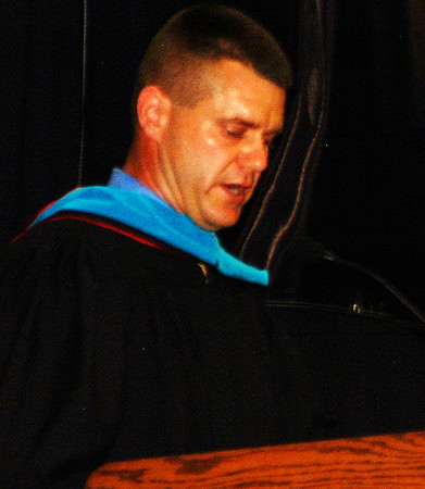 """Debbie Blank   The Herald-Tribune<br /> """"Your results do matter,"""" principal Andy Allen emphasized. """"From here you will continue to be measured by the results you produce."""" He challenged the seniors, """"Define which results matter to you … above all else, compete!"""""""
