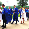 Debbie Blank | The Herald-Tribune<br /> Batesville High School seniors flowed into the west entrance to check in, get their white roses and line up in alphabetical order. By the time the May 28 commencement concluded, it was 81 degrees.