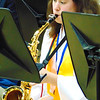 Debbie Blank | The Herald-Tribune<br /> Three of the five seniors in the BHS band, including Erin Ison on saxophone, played music before the event. Shelby Drew and Damien Pelo also were there in caps and gowns.