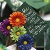 Billerica Memorial High School graduation. Nickalena Richards-Wickers' message on her cap. (SUN/Julia Malakie)