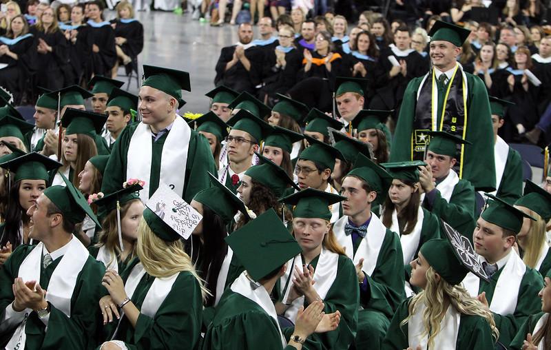 Billerica High graduation. (SUN/Julia Malakie)