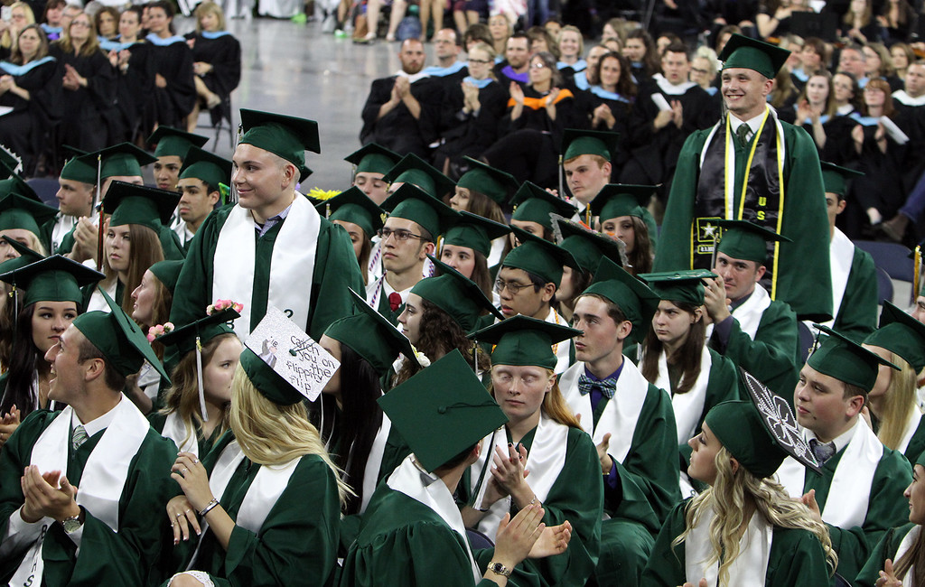 . Billerica High graduation. (SUN/Julia Malakie)