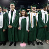 Billerica High graduation. From left, Christopher Abrahamson, Jared Alexander, Jessica Alemida and her brother J.J. Almeida, Daschnee Altenord, and Megan Aquavella. (SUN/Julia Malakie)