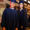 Central Catholic graduation at the high school in Lawrence. Anthony Mendonca and Meg Mercuri, both of Lowell, in line to receive diplomas. (SUN/Julia Malakie)