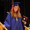 Central Catholic graduation. Sarah Berube of Wilmington receives the Religion award. (SUN/Julia Malakie)
