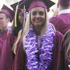 Rachel Pedersen, in line to enter Chelmsford High School graduation. (SUN/Julia Malakie)