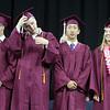 Chelmsford High School graduation. From left, class president Matthew Doherty, vice president William Marcotte, treasurer Evan Wang and secretary Ingrid Haywood. (SUN/Julia Malakie)