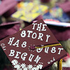 Alyssa Regan's cap at Chelmsford High graduation. (SUN/Julia Malakie)