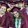 Chelmsford High graduation. From left, Amy Carey, Sarah Calman and Jack Flaherty. (SUN/Julia Malakie)