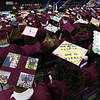 Decorated caps at Chelmsford High graduation. (SUN/Julia Malakie)