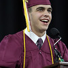 Class president Pat Slattery speaks at Chelmsford High graduation. (SUN/Julia Malakie)