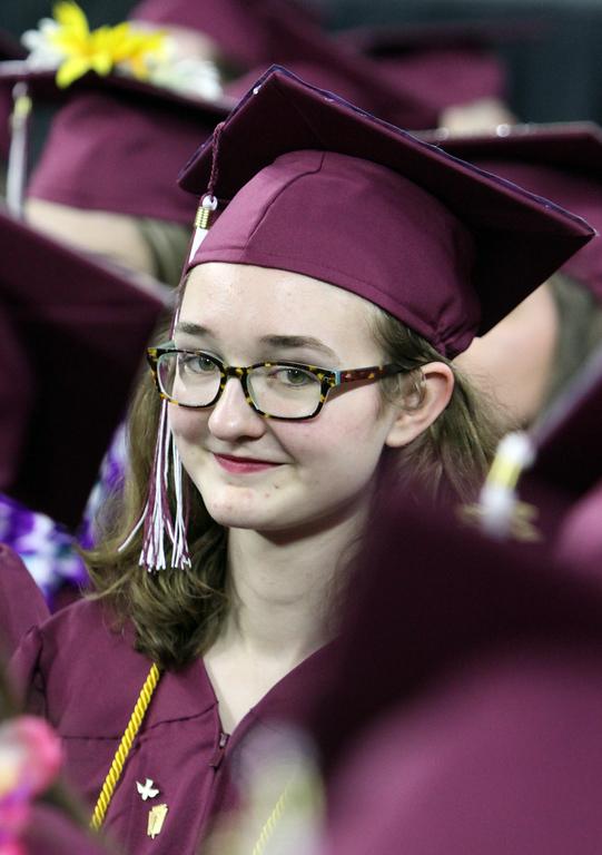 . Jessica Hagg at Chelmsford High graduation. (SUN/Julia Malakie)